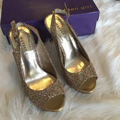 Madden Girl heels Prom Season glitter heels! Size 8. Brand new with box. Madden Girl Shoes Heels