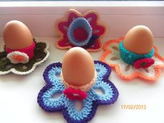 KNITTED EGG WARMERS egg holders Easter cosy door NEEDLEWORKbyEVE