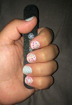 Boutique & Mint Chevron Jamberry Nail wraps! Love the combination!!!