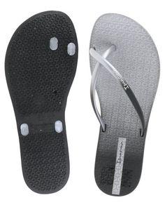 6284dd9f4 Ipanema Fit Summer Fem Flip Flops Black Silver