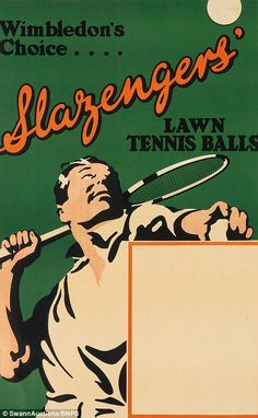 Wimbledon Slazenger Tennis Ball Ad Fine Art Print Wimbledon Slazenger Tennis Ball Ad Fine Art Print<br> Features: Fine art giclee print on heavy archival paper Unique vintage design Archival quality ink to last a lifetime Made in the USA SHIPS IN DAYS Vintage Sports Decor, Tennis Posters, Sports Posters, Tennis Serve, Tennis World, Vintage Tennis, Lawn Tennis, Tennis Tournaments, Wimbledon
