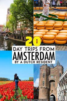 Looking for Dutch travel inspiration? Read insider tips for 20 best day trips in the Netherlands with tips on where to visit in the Netherlands for one day without a tour! #travel #netherlands #europe #dutch #utrecht #zaanseschans #alkmaar #traveltips