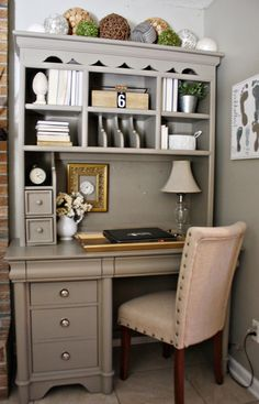 Lovely painted  furniture ideas! Learn how to create this elegant look using simply recycled furniture!