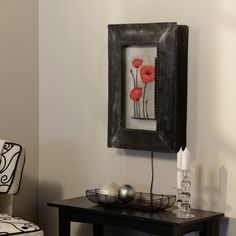 I think this is pretty cool! Would love to have in my office--woops, I don't really have an office--maybe someday though!   Poppy Canvas Wall Art Fountain $249.99