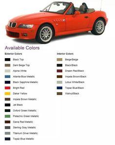 BMW Z3 colours Bmw Z1, Sterling Grey, Bmw Models, Luggage Rack, New Bmw, Small Cars, Bmw Cars, Exterior Colors, Impala
