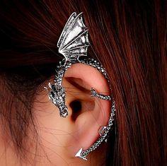 Gothic Dragon Clip Ear Cuff Earring