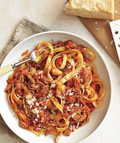 cool Pasta With Slow-Cooker Pork Ragù