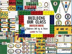 Love LEGOS? Try...Building Our Classroom, Brick Classroom