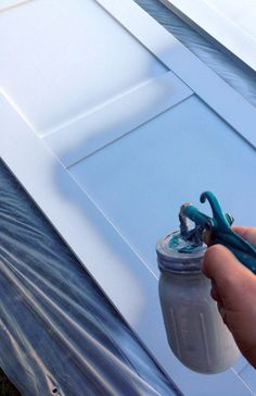 ikea furniture How to Paint (and Even Wallpaper!) IKEA Furniture - Little Green Notebook Painting Laminate Furniture, Painted Furniture, Diy Furniture, Furniture Update, Furniture Market, Painting Cabinets, Armoire Pax Ikea, Ikea Cupboards, Little Green Notebook