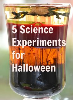 5 Science Experiments for Halloween.  Fun for kids.