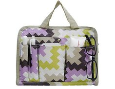 ORGANIZE JACKIE, loving the color and prints. Zig zag bag organizer $18.90
