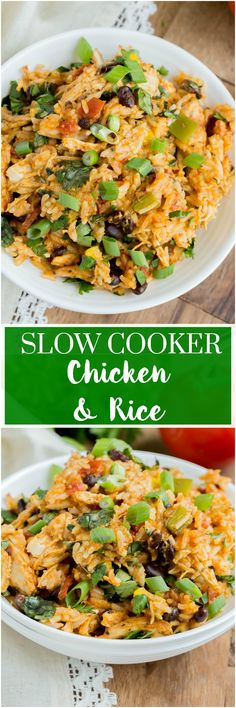 Slow Cooker Southwest Chicken and Rice is a meal you won't want to pass up. Loaded with chicken, veggies, rice and of course cheese. Who could forget the cheese! #slowcooker #chicken #rice #dinner
