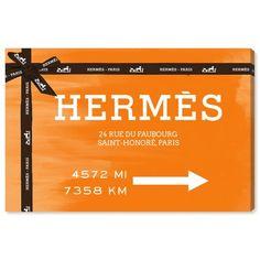 Orange Canvas Art, Hermes, Paris 11, Canvas Wall Art, Canvas Prints, Love Wall Art, Thing 1, Fashion Wall Art, Oliver Gal