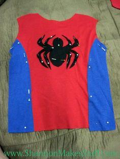 Diy spiderman costume - Visit to grab an amazing super hero shirt now on sale! Diy Girls Costumes, Dc Costumes, Toddler Costumes, Super Hero Costumes, Costume Ideas, Spiderman Dress, Kids Spiderman Costume, Spiderman Makeup, Spider Girl Costume