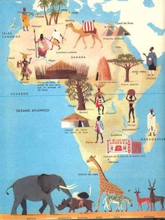 Herbert Pothorn - Vintage map of Africa Travel Maps, Africa Travel, Travel Destinations, African History, African Art, African Logo, Addis Abeba, Geography For Kids, Les Continents