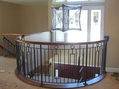 Wrought Iron Railings Interior photos of installations and designs. Hand-forged, custom residential and commercial interior wrought iron nj railings. Iron Stair Railing, Banisters, Railing Design, Railing Ideas, Interior Railings, House Stairs, Iron Work, Interior Photo, Commercial Interiors