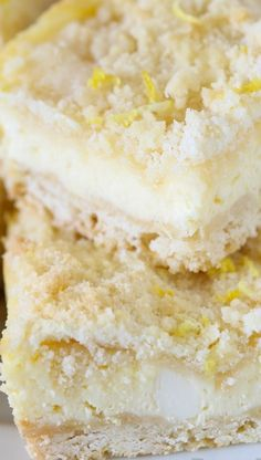 Lemon Shortbread Crumble Bars  | THIS IS IT. The best lemon dessert ever! No seriously: these bars are the perfect balance of buttery, sweet, tangy, creamy, crunchy, and EASY. You have to make them!