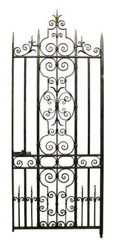 LARGE IRON PEDESTRIAN / SIDE GATE - UK Architectural Heritage