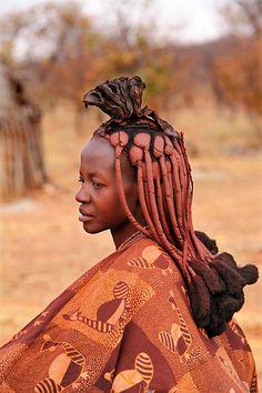 Himba tribes woman, Kunene region, Namibia