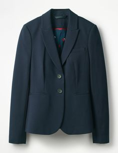 I have this blazer...its great quality and goes in the washing machine! More suit like then the others I have pinned.