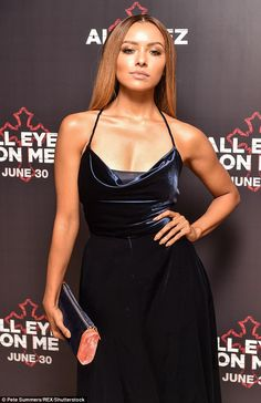 The actress and singer looked chic as she flaunted her svelte figure in a navy suede midi dress and matching heels. Beyonce Coachella, Katerina Graham, Velvet Midi Dress, Bonnie Bennett, Cute Beauty, Old Actress, Petite Women, Celebs, Celebrities