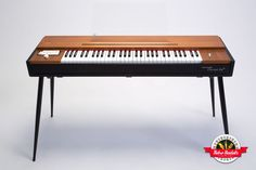 The grand funk of the Hohner Clavinet! Nothing beats the percussive and funky sound of the D-6 model with 4 selectable pickup presets and EQ control. Available in wood or metal, both D-6 models have the same sound configuration. Put a wah-wah on and get down.