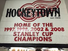 Red Wings Hockey, Stanley Cup Champions, The Joe, Detroit Red Wings, Nhl, Michigan, Neon Signs, Watch, Sports