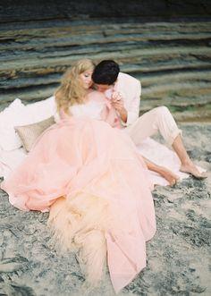 Pink and gold wedding inspiration | photos by Ashley Kelemen | 100 Layer Cake