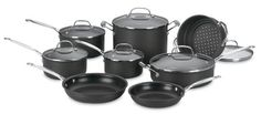 Amazon.com: Cuisinart 66-14 Chef's Classic Nonstick Hard-Anodized 14-Piece Cookware Set: Kitchen & Dining $165.20