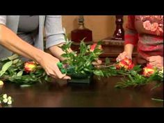 How to Arrange Flowers- FAUX Hand-Tied Bouquet! - YouTube