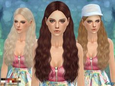 The Sims Resource: Cazy`s Marion - Female Hairstyle • Sims 4 Downloads