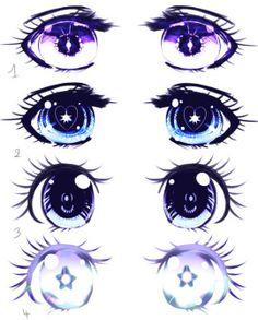 Algunas maneras de dibujar ojos anime *3*