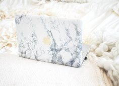 How I Created A Marble & Gold MacBook Case For $20 | MoneyCanBuyLipstick.com