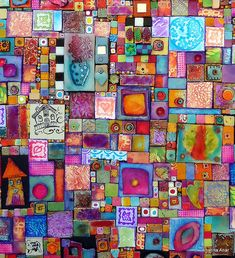 Polymer clay mosaic 70 x 90cm.......................magnifique