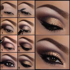 Lila und Gold Augen Makeup Tutorial Make-up Lidschatten Purple and Gold Eye Makeup Tutorial Makeup Eyeshadow up How To Apply Eyeshadow, Eyeshadow Makeup, Applying Eyeshadow, Eyeshadows, Smokey Eyeshadow, Eyeshadow Guide, Makeup Brushes, Golden Eyeshadow, Eyeshadow Ideas