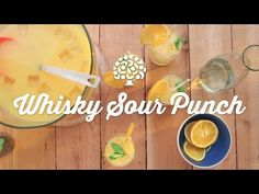Whiskey Sour Punch Recipe - Simple Whiskey Drink | FDOC