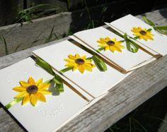 45 Sunflower wedding invitations