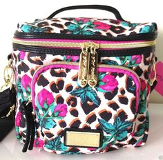 Betsey Johnson RoseBud Safari Cargo Lunch Tote Insulated Box Bag Natural Y14 #BetseyJohnson #LunchTote