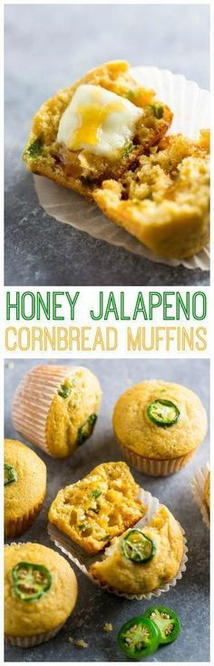 Honey Jalapeno Cornbread Muffins are sweet just a little but spicy and SO flavorful! Honey Jalapeno Cornbread Muffins are sweet just a little but spicy and SO flavorful! Mexican Food Recipes, Dinner Recipes, Ethnic Recipes, Tortilla Recipes, Jalapeno Recipes, Breakfast Recipes, Jalapeno Cornbread Muffins, Corn Muffins, Honey Cornbread