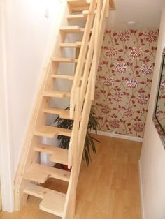 Space saver stairs can be a great way to access single occasional rooms in attic. - Space saver stairs can be a great way to access single occasional rooms in attics such as studies. Loft Conversion Stairs, Attic Conversion, Attic Bathroom, Attic Rooms, Attic Playroom, Attic House, Attic Office, Attic Apartment, Attic Renovation
