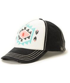 Billabong By Choice Black Print Snapback Hat Hooey Hats baba16b0bb1a