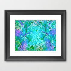 Tropical Breeze Floral Abstract Framed Art Prints by Judy Palkimas