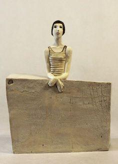 Ceramic Sculpture , Fine Art Ceramic , Art Object , Handmade Clay Sculpture , Ceramic Art , Ceramic Figurine , Pottery , Unique Ceramic Figure by ImagoArtDesign