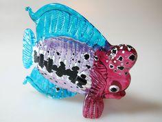 Aquarium Handcrafted MINIATURE HAND BLOWN GLASS Fish FIGURINE Collection # 64PP #ZOOCRAFT