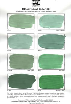 Shades of verdigris, green - Classic Color Series - interior design, interior decoration, Belltown Design, Seattle WA Green Color Names, Green Paint Colors, Home Interior, Decor Interior Design, Interior And Exterior, House Painting, Painting On Wood, Fresco, Verde Vintage