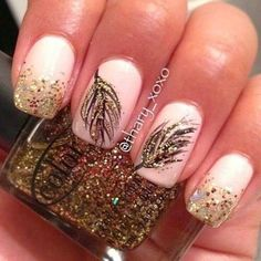 Glitter Nail Designs For women 2015