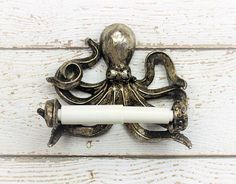 Octopus Wedding Gift Toilet Paper Holder Nautical Decor Bathroom Home Pinterest