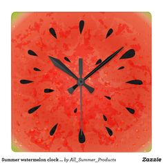 Summer watermelon clock design