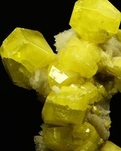 Sulfur | #Geology #GeologyPage #Mineral Locality: Cozzodisi Mine Casteltermini Agrigento Sicily Specimen weight:90 gr. Crystal size:3 cm Overall size: 92mm x 60 mm x 40 mm Photo Copyright Minservice Geology Page www.geologypage.com