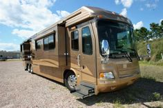 2006 Monaco Signature 42' Quad Slide with only 28,000 miles.  Won't last long at just $199,900.  http://motorhomefinders.com/rvs/2006-monaco-signature-42-quad-slide/